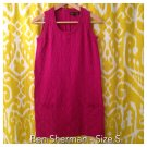 BEN SHERMAN Cotton Fuchsia Sleeveless Dress - Sz S