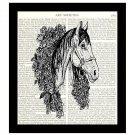 Horse Dictionary Art Print 8 x 10 Winner's Circle Vintage Equestrian Home Decor