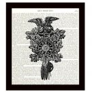 Dictionary Art Print 8 x 10 Victorian Cuckoo Clock with Eagle Vintage Home Decor