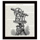 Dictionary Art Print 8 x 10 Victorian Telescope Astronomy Science Home Decor