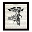 Dictionary Art Print 8 x 10 Steampunk 19th Century Pedal Powered Flying Machine