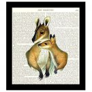 Kangaroo Dictionary Art Print 8 x 10 Mother and Child Family Decor Book Page