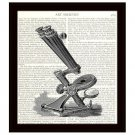 Dictionary Art Print 8 x 10 Victorian Microscope Science Medical School Lab