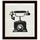 Dictionary Art Print 8 x 10 Old Fashioned Telephone Vintage Home Decor