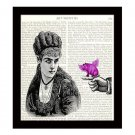 Dictionary Art Print 8 x 10 Victorian Steampunk Collage When Pigs Fly