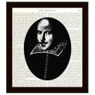 Portrait of William Shakespeare Dictionary Art Print 8 x 10 Home Decor