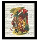 Alice in Wonderland Dictionary Art Print 8 x 10 The Duchess Fairy Tale Unframed