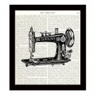 Dictionary Art Print Victorian Sewing Machine 8 x 10 Vintage Art Home Decor