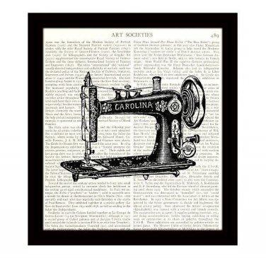 Dictionary Art Print Victorian Sewing Machine 8 x 10 Vintage Art Home Decor