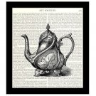Dictionary Art Print Victorian Teapot 8 x 10 Kitchen Art Housewarming Home Decor