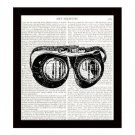 Dictionary Art Print 8 x 10 Steampunk Goggles Victorian Illustration Home Decor