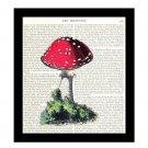 Mushroom Dictionary Art Print 8 x 10 Vintage Botanical Kitchen Art Home Decor