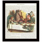 Dictionary Art Print 8 x 10 Alice in Wonderland Tea Party Victorian Decor