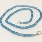 Blue Topaz Faceted Rondelle beaded necklace