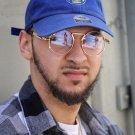 Round Gold Frame Mens Clear Hip Hop  Eye Glasses