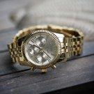 Men's Hip Hop Gold Stainless Steel Watch