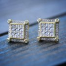 Small Size 14k Gold Square Men's Stud Earrings