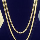 7mm 14k Gold Cuban Link Curb Chain Franco Stainless Steel With Diamond Cuts