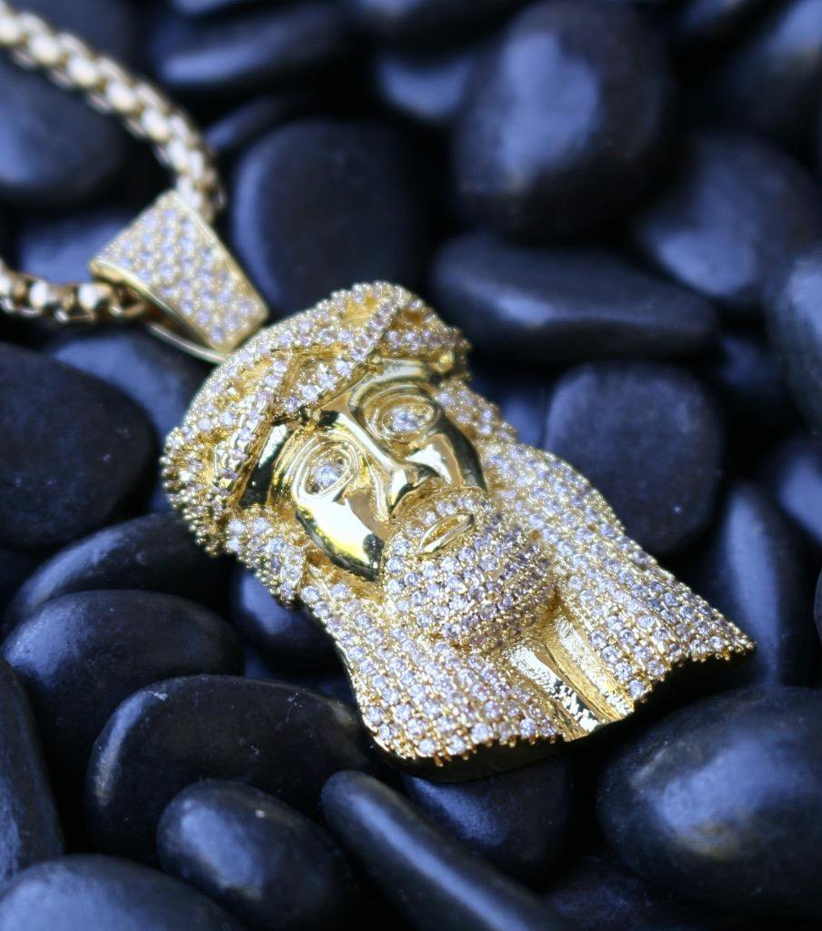 Men's Hip Hop Jesus Piece Pendant And Chain Set