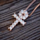 Mini Rose Gold Egyptian Ankh Cross Necklace