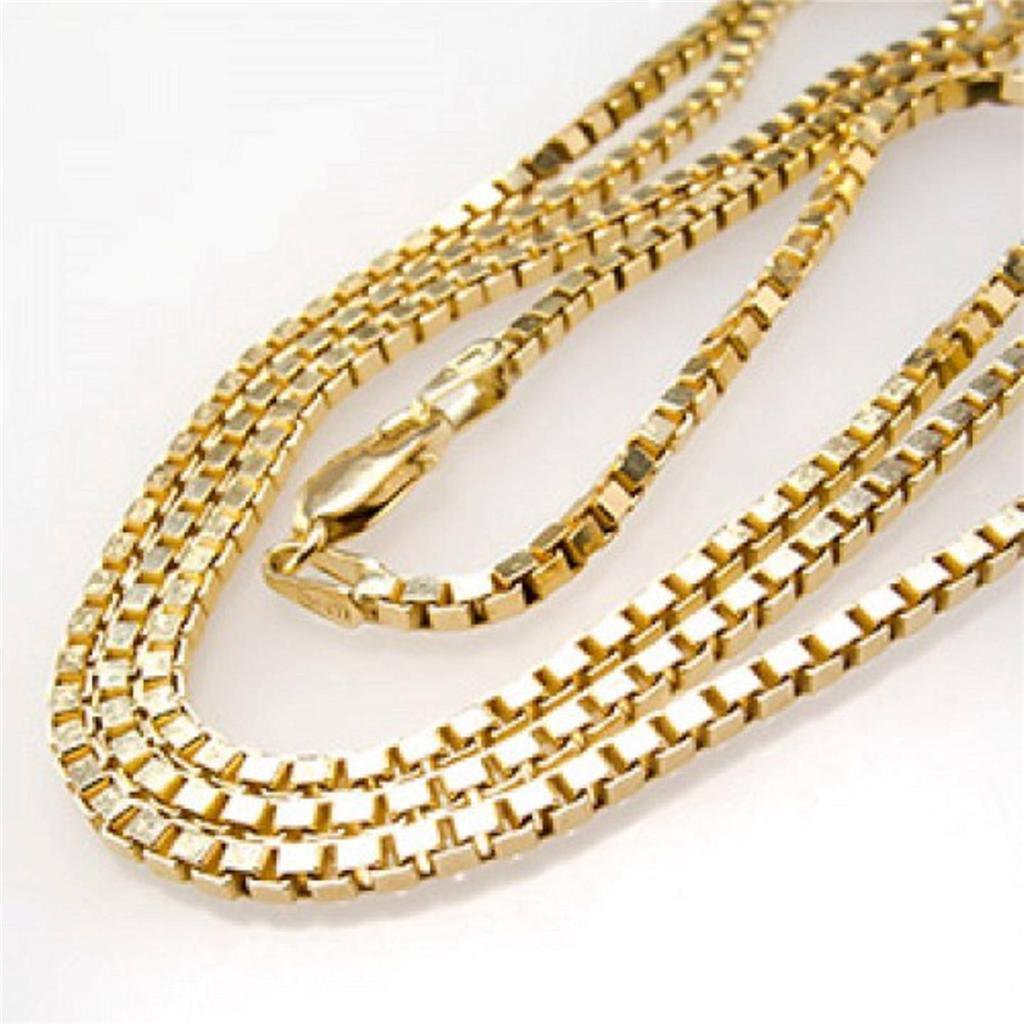 """24"""" Stainless Steel 18k Gold Box Chain High Quality"""