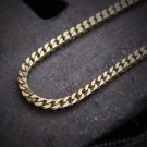 """Mens Gold Franco Chain Necklace 30"""" Stainless Steel"""