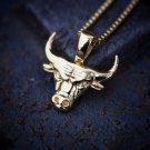 Hip Hop Bulls Mini Gold  Pendant Necklace