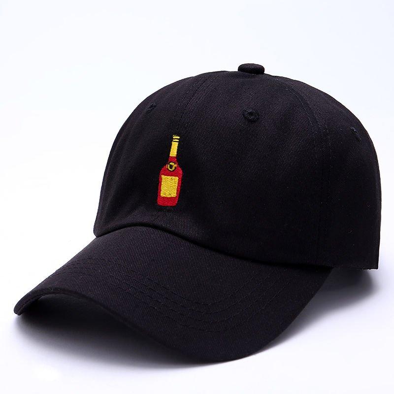 Mens Black Henny Bottle Dad Hat
