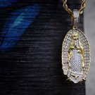 Gold Plated Hip Hop Virgin Mary Pendant Chain Necklace