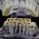 Hip Hop 14K Gold GP Teeth Lower Bottom Dripping Grillz And Mold Kit