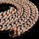 Men's Fully Iced Out Heavy Lab Diamond Miami Cuban Chain Necklace