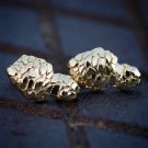 Men's Hip Hop Gold Nugget Style Stud Earrings