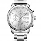 Silver Men's Luxury Stainless Steel Big Face Watch