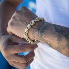 Men's Iced Out Gold Rope Bracelet
