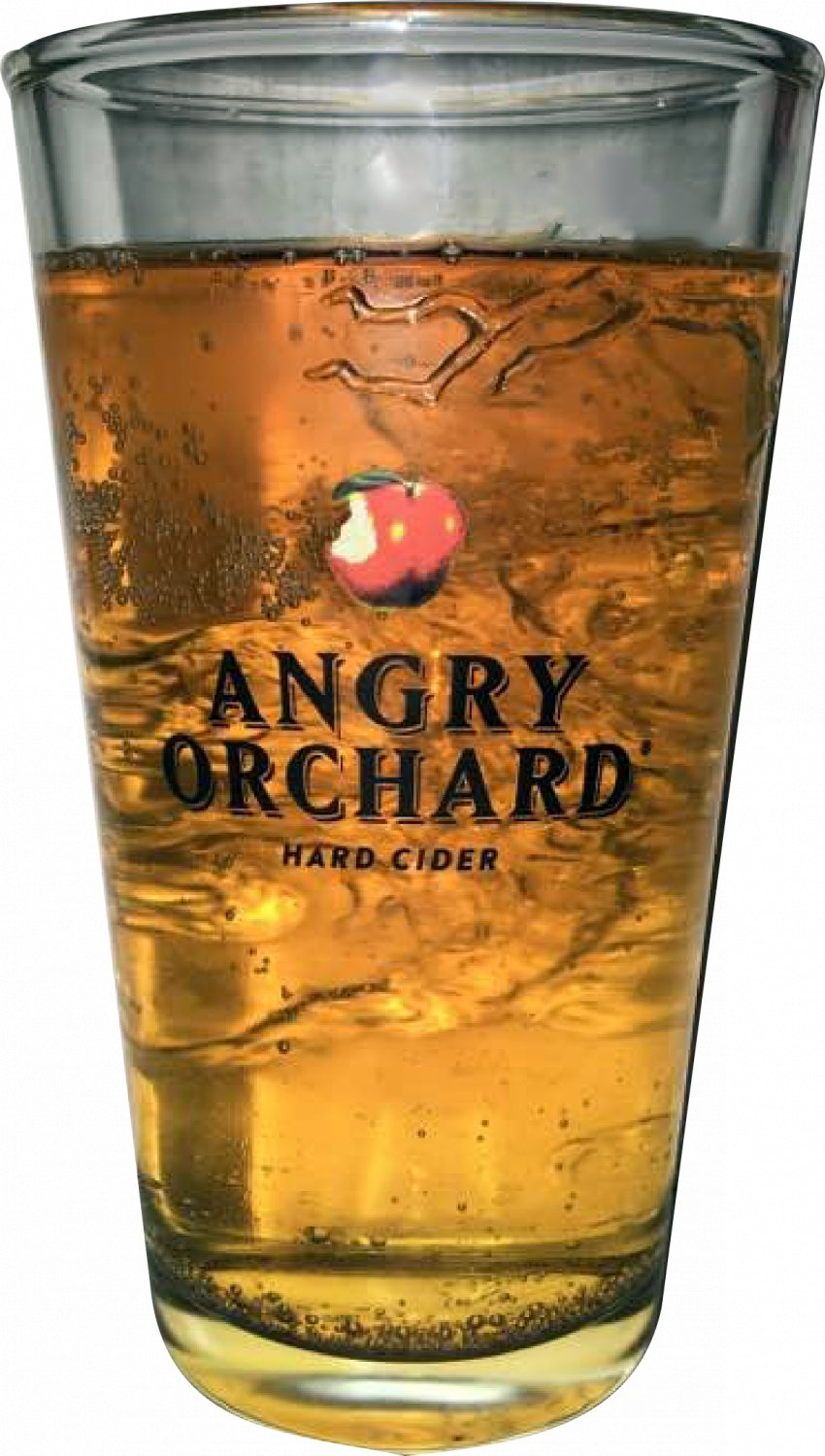 Angry Orchard Hard Cider Drink Glass - 3D Embossed Glass