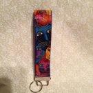Wristlets Key Fob Fabolus Felines fabric by Laurel Butch. Handmade