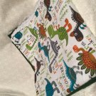 Dino Roar baby receiving blanket lap blanket beach blanket oversized doubl