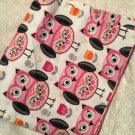Folk Art Owls  baby receiving blanket lap blanket beach blanket oversized doubl