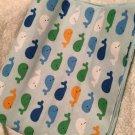 Whale's baby receiving blanket lap blanket beach blanket oversized doubl