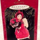 1999 Hallmark Keepsake Ornament Rose Angel 4th in Series w/box