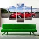 Red Dodge Viper GTC Muscle Sports Car Posters 5 PCS Wall Art Canvas Decoration