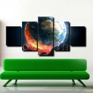 Palm Earth From Space Poster Prints 5 Piece Canvas Wall Art Painting Home Decor