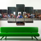 Last Supper 5 Piece Canvas Set Jesus Painting Wall Art Poster Home Decor Printed