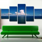 Ocean Wall Mural Seascape Art Poster Giclee 5 Piece Canvas Landscape Painting