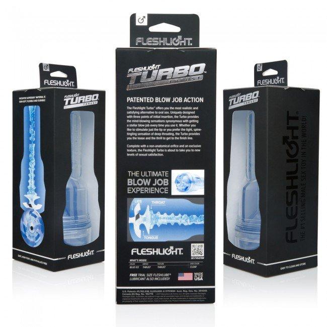 Fleshlight Turbo Thrust Blue Ice Blue Os FL810476011192