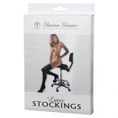 Sharon Sloane - Latex Stockings Black ~ Medium 9504M-BX