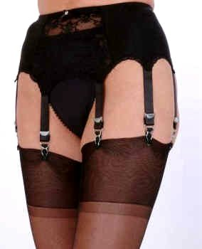 8 Strap Suspender Belt Lace Front Panel From Nylon Dreams NDL 9