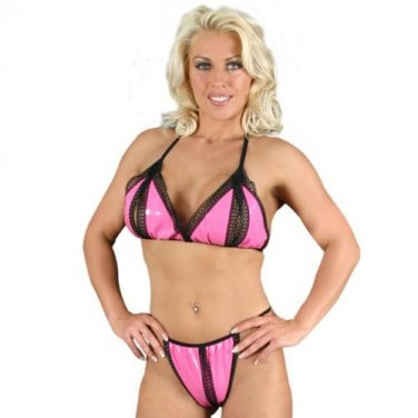 Pvc Split Bra & Brief Set S1316