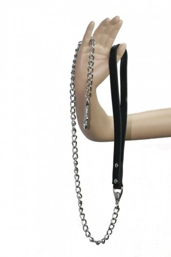 Oscuro APC145-BL 110cm Leather & Chain Leash