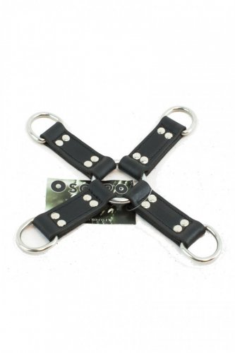Oscuro APXD128 Leather Four Way D-Ring Hog Tie Connector